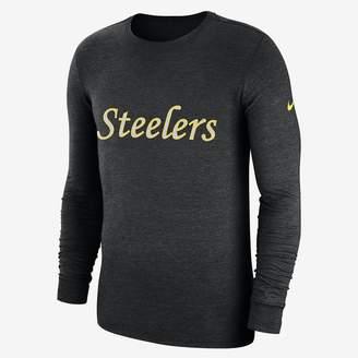 Nike NFL Steelers) Men's Tri-Blend Long Sleeve T-Shirt