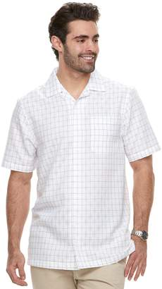 Haggar Big & Tall Regular-Fit Button-Down Camp Shirt