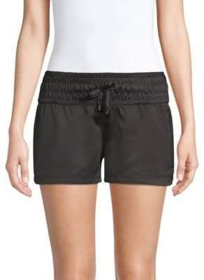 Blanc Noir Midrise Glider Shorts