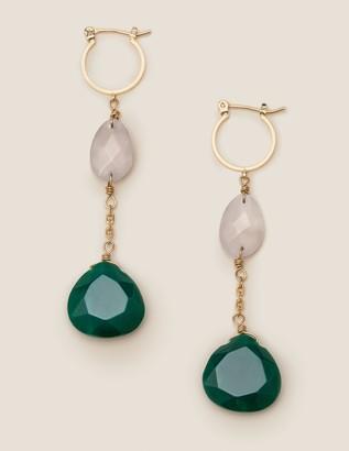 Semi-Precious Drop Earrings