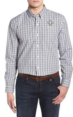 Cutter & Buck New Orleans Saints - Gilman Regular Fit Plaid Sport Shirt