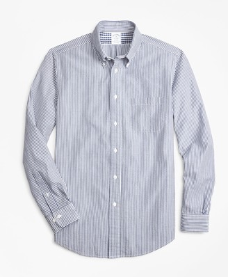 Brooks Brothers Regent Fit Stripe Seersucker Sport Shirt