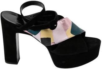 Kristina Ti Black Suede Sandals