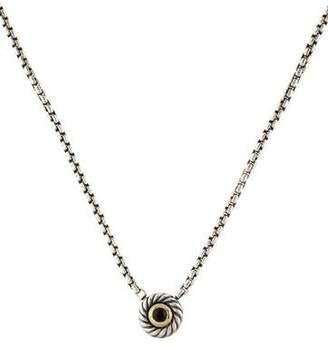 David Yurman Onyx Cookie Pendant Necklace