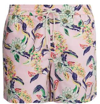 d18c8f6d54334 Polo Ralph Lauren Traveller Lotus Print Swim Shorts - Mens - Light Pink