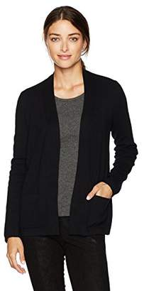 Jones New York Women's Open Front Cardi with Rib Placket