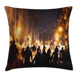 Chaos East Urban Home Zombie Decor Burning Town Square Pillow Cover East Urban Home