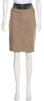 A.F.Vandevorst A.F. Vandevorst Wool-Blend Knee-Length Skirt