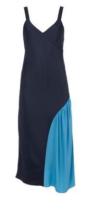 Tibi Color Block Slip Dress