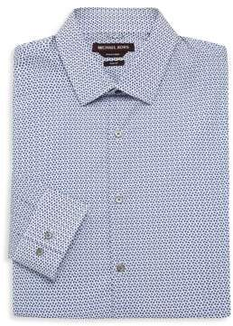 Michael Kors Dot-Print Cotton Shirt