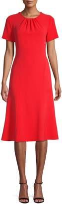 Diane von Furstenberg Pleated Rose Dress