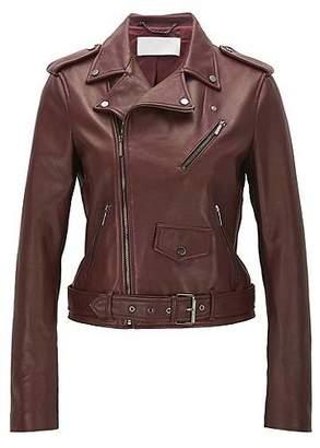 HUGO BOSS Regular-fit jacket in mixed fabrics
