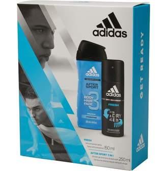 adidas Mens Cool & Dry After Sport 150ml Anti Perspirant 250ml Shower Gel Set