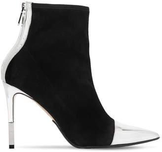 Balmain 110mm Blair Suede & Metallic Ankle Boots