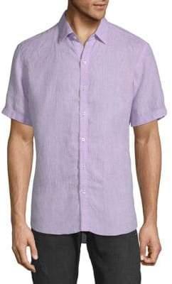 Zachary Prell Short-Sleeve Linen Shirt