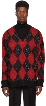 Alexander McQueen Multicolor Oversized Argyle Sweater