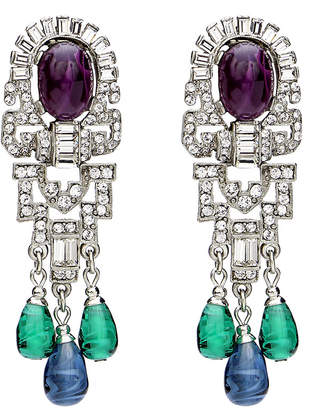 Ben-Amun Ben Amun Triple Dangle Crystal Earrings