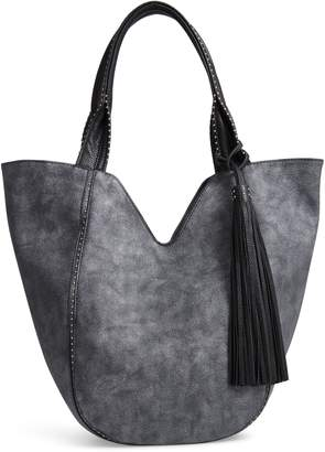 Sondra Roberts Studded Faux Leather Shopper