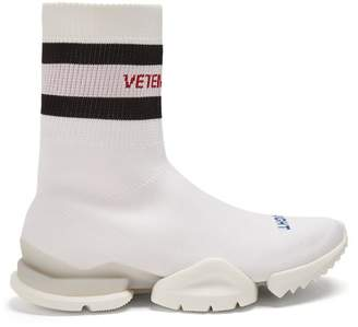 Vetements X Reebok High Top Sock Trainers - Womens - White