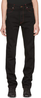 Calvin Klein Black Dennis Hopper Patch Jeans