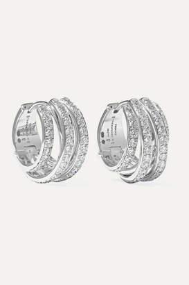 de Grisogono Allegra 18-karat White Gold Diamond Earrings