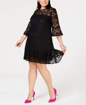 Betsey Johnson Plus Size Lace Shift Dress