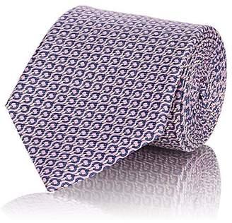 Ermenegildo Zegna Men's Chain-Link-Print Silk Faille Necktie