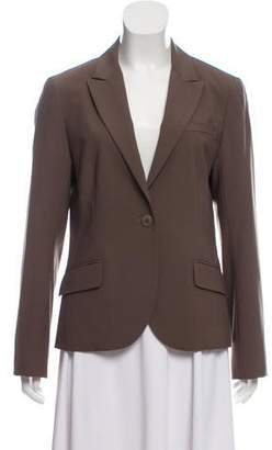 Theory Peak-Lapel Button-Up Blazer