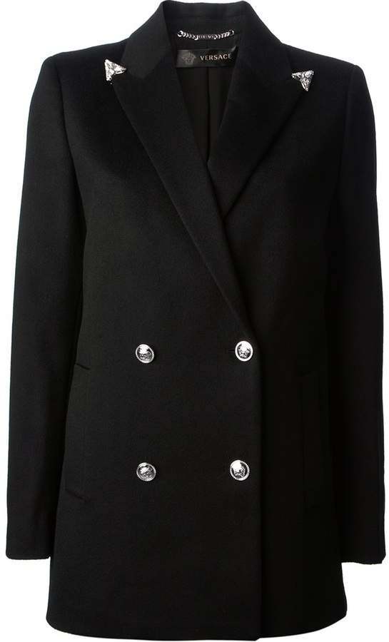Versace metallic lapel blazer