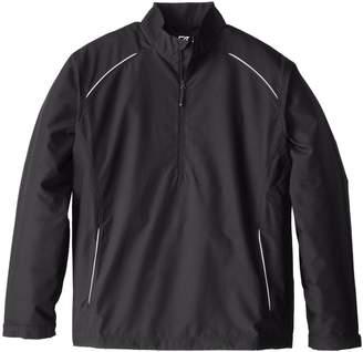 Cutter & Buck Men's Big-Tall Cb Weathertec Beacon Half Zip Jacket