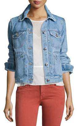 Derek Lam 10 Crosby Toby Classic Jean Jacket, Light Blue