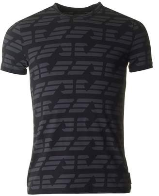 Giorgio Armani All Over Eagle Logo Crew Neck T-shirt