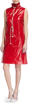 Calvin Klein Sleeveless Stand-Neck Drawstring Dress w/ Pockets