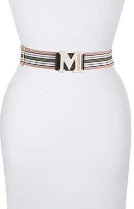 M Missoni M Logo Striped Belt