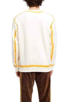Eckhaus Latta Hand Dyed Seam Painting Sweatshirt