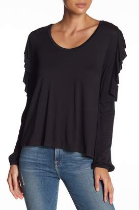 Abound Lace Inset Ruffle Sleeve Tee
