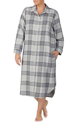 Lauren Ralph Lauren Plaid Flannel Sleep Shirt