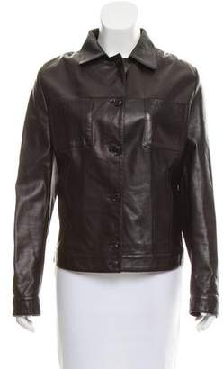 Luciano Barbera Tailored Leather Jacket
