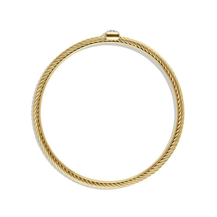 David Yurman Confetti Bangle with Diamonds in Gold