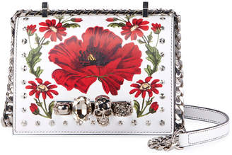 Alexander McQueen Small Jeweled Satchel Bag with Poppy Art