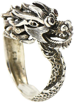 One Kings Lane Vintage Sterling Mechanical Dragon Head Ring - Owl's Roost Antiques