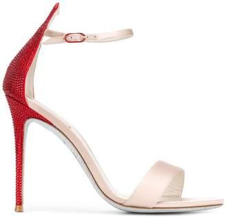 Rene Caovilla embellished heel sandals