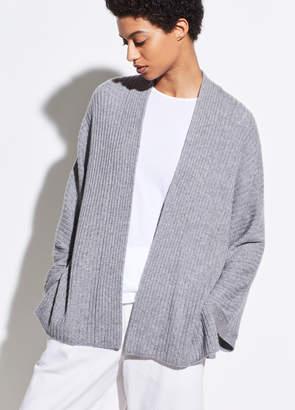 Wool Cashmere Split Panel Cardigan