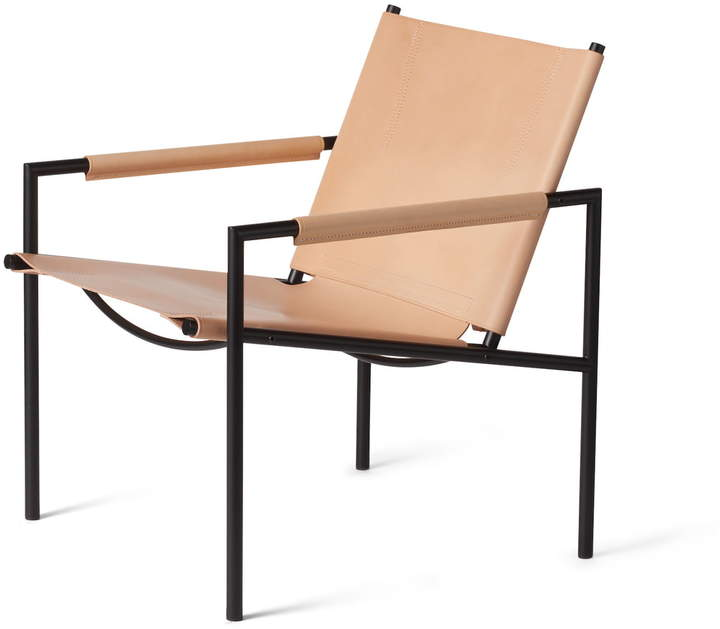 SZ 02 Sessel, schwarz / Kernleder natur