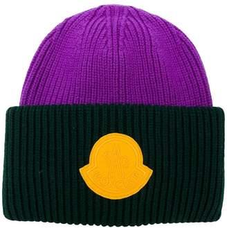 Moncler 1952 bicolour knit hat