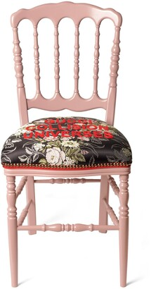 Gucci Wood chair with flower jacquard