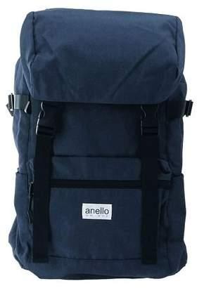 Anello (アネロ) - BACKYARD anello GRANDE 軽量撥水 SC杢調ポリ フラップリュック GT-H1561