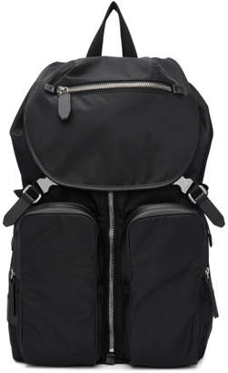 Neil Barrett Black Nylon Backpack