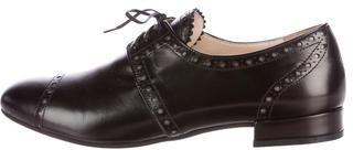 pradaPrada Leather Round-Toe Oxfords