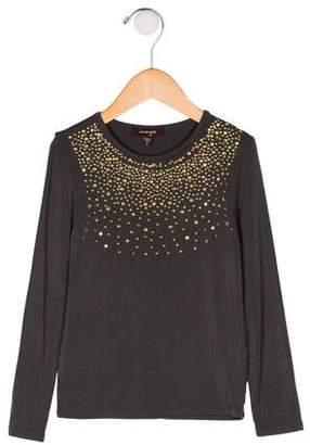 Imoga Girls' Embellished Knit Top